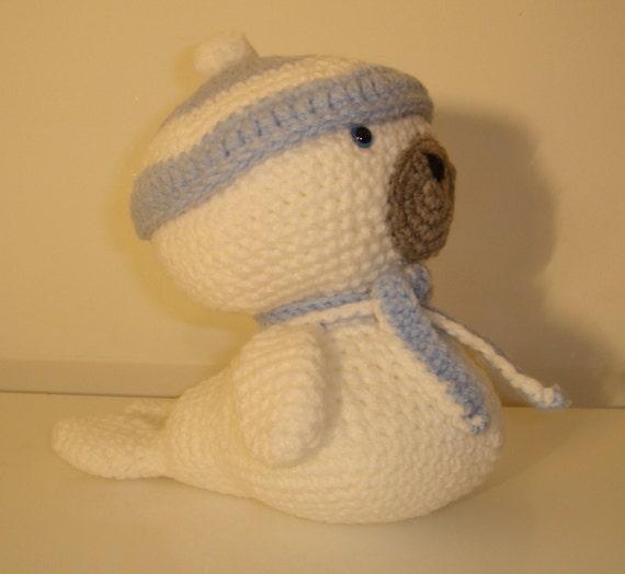 Crochet Amigurumi Seal : Baby Seal Amigurumi Seal Crochet Handmade Soft by ...