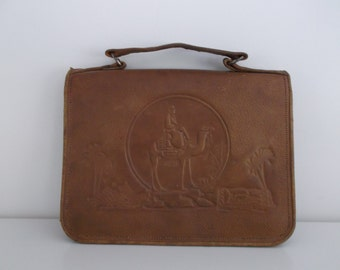 satchel leather old Egyptian style - egyptian binder