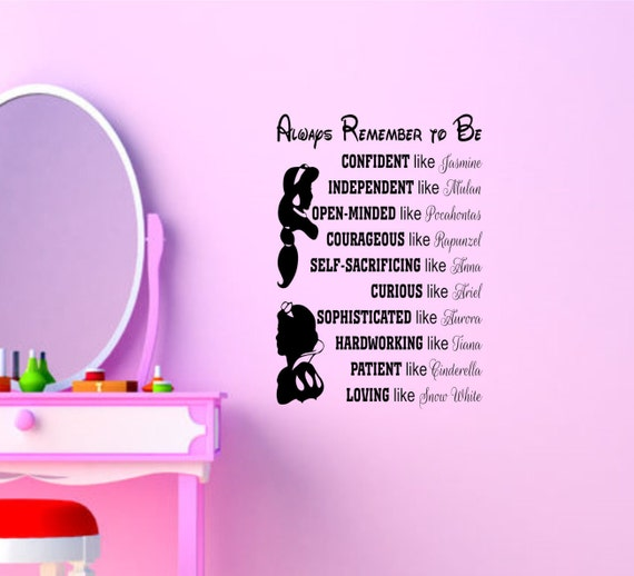 Disney Princess Wall Quotes Disney Signs Disney Princess Wall Art Disney  Princess Wall Decals U0026 Murals Wall Decor Wall Words Wall Sayings Part 72