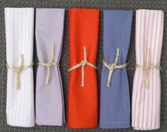 Cotton napkins / napkins in cotton shirt, set of 5