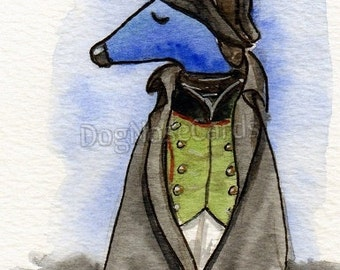 Greetings Card. Hand-painted. Unique. Dognose Napoleon Critter - LC7