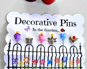 Fancy Sewing Pins - Decorative Sewing Pins - Garden Pins - Pin Topper - Scrapbooking Pin - Bulletin Board Pin - Embellishment Pin