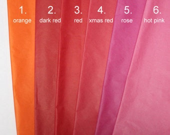 100 Sheets Coloured Tissue Paper Sheets, Premium Tissue Paper Wrap, Packaging Paper, Decorating