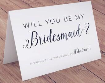 Printable Bridesmaid Card, Instant Download, Will You Be My Bridesmaid Card, Bridesmaid Invite, Bridesmaid Proposal, Printable Wedding Card