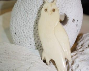 Bone Owl Pin