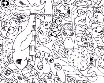 Coloring Page Doodle #1