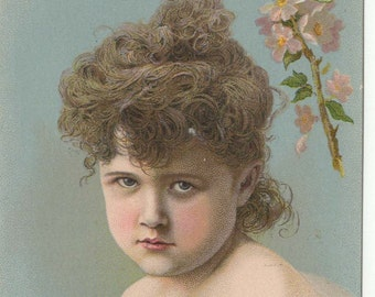 Willimantic Thread Trade card: Young Girl