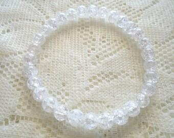 Danburite bracelet, Mala bracelet, Healing bracelet, Danburite 6 mm