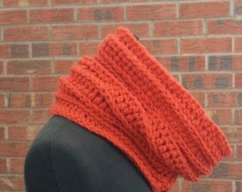 Chunky scarf, orange scarf, womens scarf, infinity scarf, crochet scarf, chunky crochet scarf, winter scarf, oversized scarf, fall scarf