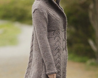Hand-knitted CARDIGAN SWEATER coat Cardigan wool jacket wool
