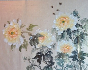 Five Peonies - Authentic Traditional Chinese Painting (Made to Order)