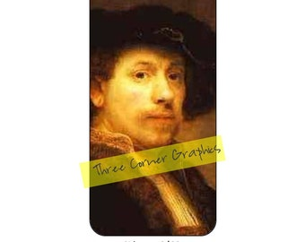 iPhone 6 printable fine art case design, Rembrandt, DIY print at home iPhone accessories for 6 or 6S