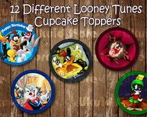 Looney Tunes Cupcake Toppers / Looney Tunes Stickers - Printable - Instant Download