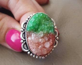 Druzy Ring- size 8!