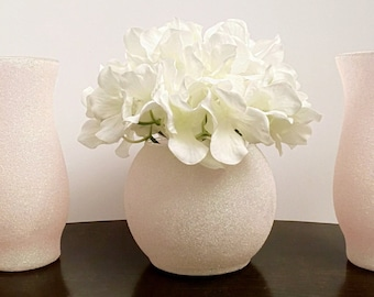 Bling Glitter Centerpieces (Set of 3)  -Wedding Table Centerpiece, Floral Vases For All Occasions.