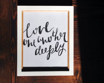 Love One Another Deeply - Instant Download
