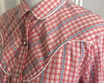 Vintage 1970s / 70s Levi's Levi Strauss Ladies Western Shirt - Free shipping!