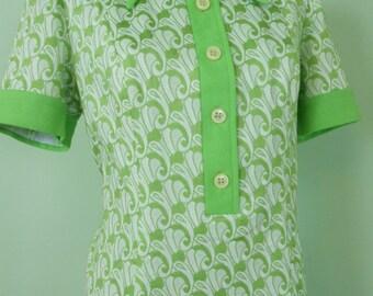 60s / 70s vintage dress green