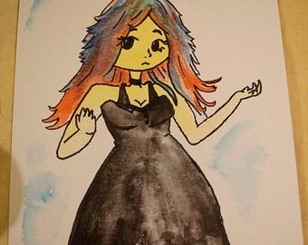 Roia Watercolour - A5 Art Print