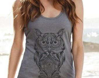 Longshoreman owls Mandala grey mottled