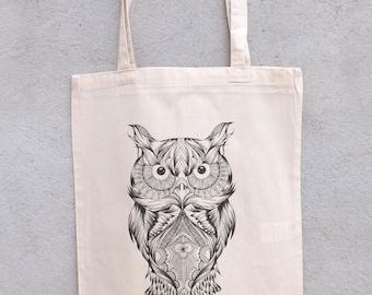 "Tote Bag ""Grand owls Mandala"" - shopping bag"
