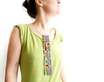 Bijoux Fringe Necklace Bijoux Unusual Jewelry. Crochet Necklace. Crochet Jewelry