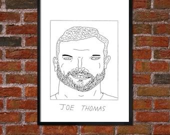 Badly Drawn Joe Thomas - Cleveland Brownsposter / print / artwork / wall art