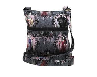 Disney Villains Portraits XL Crossbody Bag // Sling Bag // Crossbody Purse // Shoulder Bag // Hipster