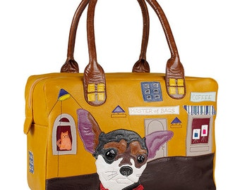 "Leather handbag ""Chihuahua"", women's leather bag, leather shoulder bag, handmade, leather purse, shoulder bag."