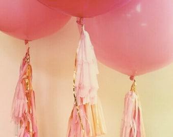 Vintage Handmade Giant Wedding Balloon with tassels