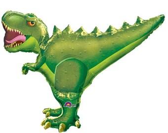 T-Rex Ultra Supershape Mylar Balloon, Dinosaur, Birthdays, Boys, Girls, Parties, Adventure, Decoration, favors, foil, supershape, ultra