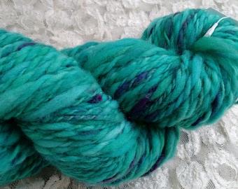 Tidal Blue 100% Merino Wool 2 ply Hand dyed Hand spun Yarn