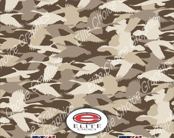 "Goose Hunting Silhouette 15""x52"" or 24""x52"" Truck/Pattern Print Tree Real Camouflage Sticker Roll or Sheet"