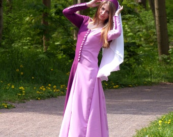 Medieval dress - Miparti dress - XIV century dress