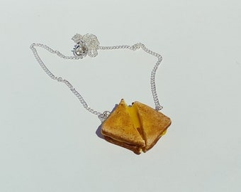 Grilled Cheese Necklace, Polymer Clay Jewelry