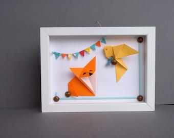 Table for children, decorative frame, the Fox and the bird room