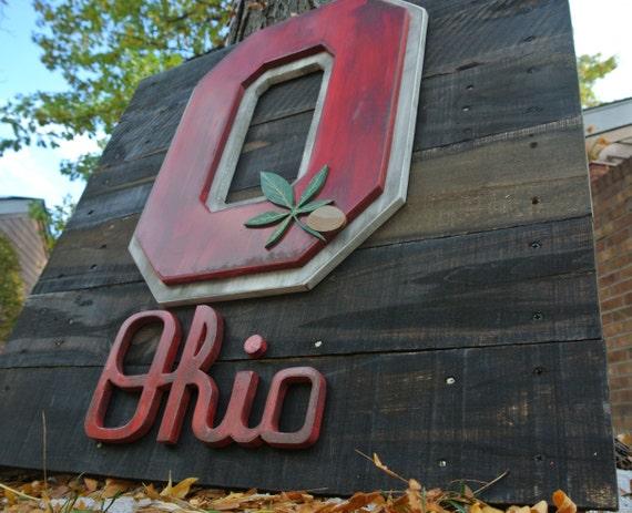 Reclaimed Wood Ohio Buckeyes Logo, The Ohio State University, OSU, Buckeye,  Columbus - Reclaimed Wood Ohio Buckeyes Logo The Ohio State University