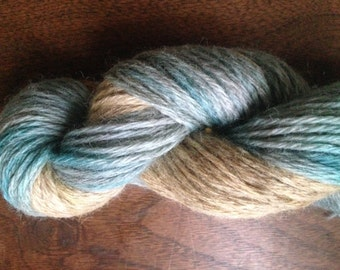"""Hand-dyed 100% Wool- Worsted """"Rainy Day"""""""