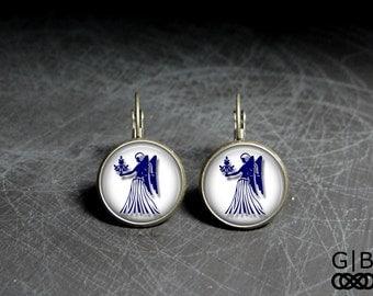 Virgo Earrings Zodiac Virgo Earrings Zodiac Dangles Virgo Earrings Zodiac Virgo Jewelry Earrings dangles Zodiac Virgo Jewelry Virgo Earrings
