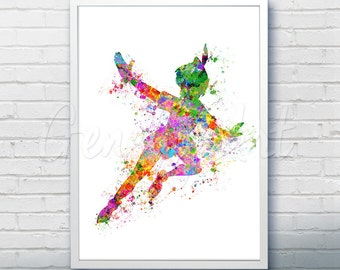 Disney Peter Pan Watercolor Poster Print - Watercolor Painting - Watercolor Art - Kids Decor- Nursery Decor