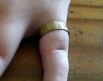 adjustable brass kawaii ring