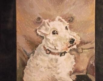 Custom Pet Portrait, Acrylic on canvas board, 5x7. Ideal Gift