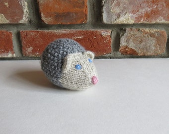 Soft Grey Hand Knitted Hedgehog