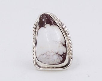 Triangular, White Buffalo Ring
