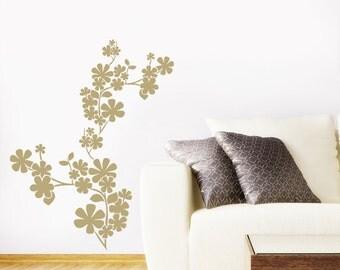 Cherry Blossom Flowers Wall Sticker - Art Vinyl Decal Transfer - by Rubybloom Designs