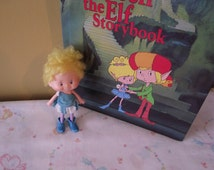 Herself the Elf Lot of Vintage Toy, Storybook and Curtain Panels/Fabric