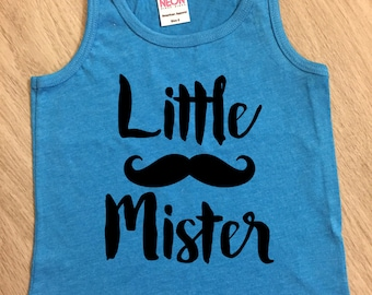 Little Brother mustache tank top - baby boy or girl tank - toddler tank - summer tank top