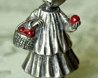 Hallmark Little Mary Apple pewter figurine