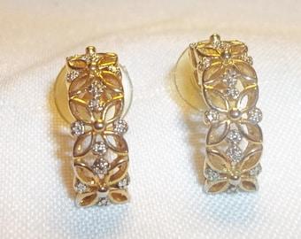 Vintage Estate Flower Earrings