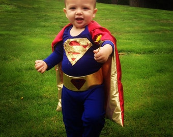 Custom PREMIUM SUPERMAN Costume for Toddler-Child-Teen
